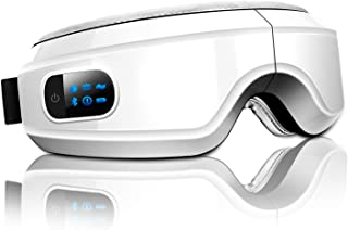 アイマッサージャー 目元 アイマスクー ホットパック加熱エアー加圧双気袋押し Bluetooth音楽機能 振動 気圧アイエステ 多周波振動 目元 ヒーター ホットアイマスク180度二つ折り USB充電式 日本語説明書付き
