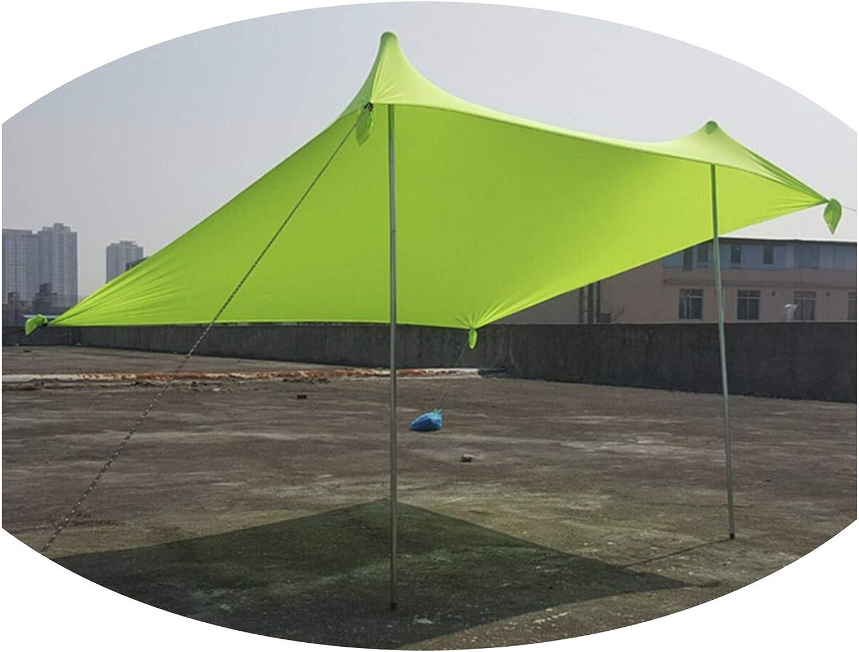 Beach Tents Tarp Sunshade Inflatable Shelter Canopy Sand Anchor Carry Bag Canopy Rain Predect Portable 2 Pole