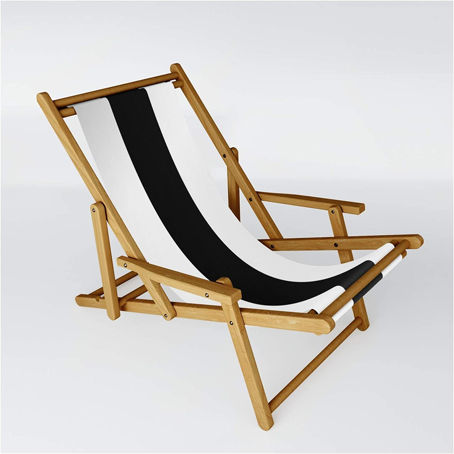 Black and Year-end gift White Stripe by Masanori Kai Fort Worth Mall - One on Sling Chair Size