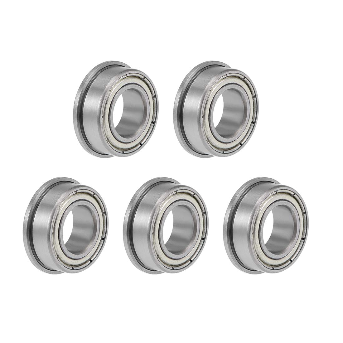 uxcell F63800ZZ Sale SALE% OFF Max 57% OFF Flange Ball Bearing Shielded Chrome Be 10x19x7mm