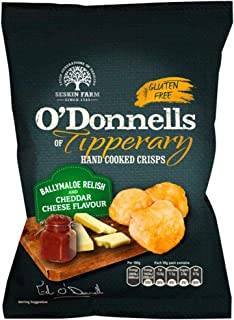O'Donnells of Tipperary Ballymaloe Relish and Cheddar Cheese Flavour Hand Cooked Crisps (7 X 50g)