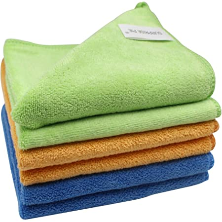 /—50PK AIDEA Microfiber Cleaning Cloths Softer Highly Absorbent Lint Free Streak Free for House Window Kitchen Car 12in.x 16in.