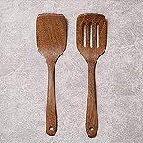 MoonyLI Holzspatel-Set 2-teilige Holzlöffel, das perfekte Geschenkset für die Küche mit Holzutensilien