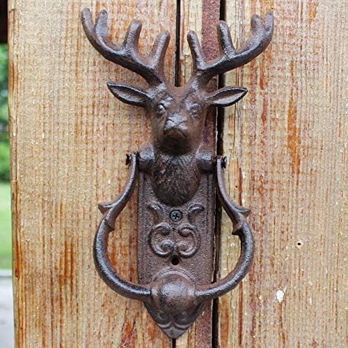 WEIXIAO WLKH European Retro Cast Iron 5 popular Crafts Max 79% OFF Door Knocker Deer H