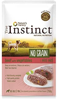 True Instinct No Grain - Nature's Variety - Mini Paté sin Cereales de Buey para Perros 150 gr - Pack de 8