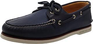 Sperry Top-Sider pour des Hommes Chaussures Bateau à 2 Yeux dorés, Bleu