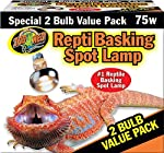 Zoo Med Repti Basking Spot Lamp 2 Bulb Value Pack 75W