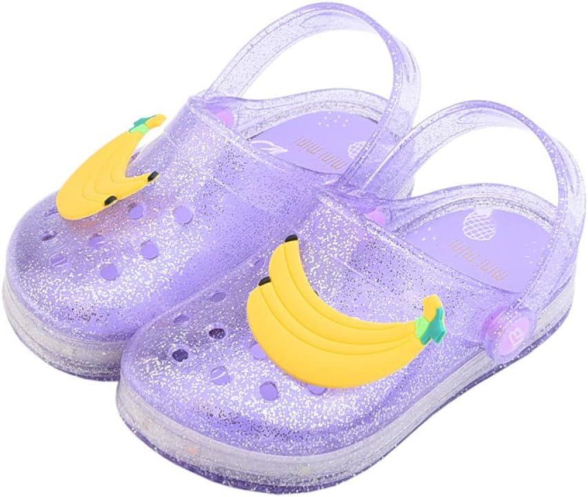 Kirin-1 Childrens Slippers Size 2 Deluxe Max 69% OFF Slipp Led Girls Flashing Fruit
