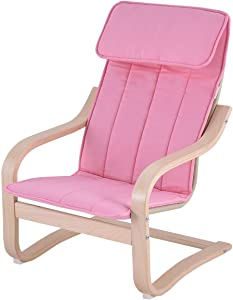 COSTWAY Kids Armchair Children Leisure Lounge Wood Home Furniture Kiddie (Pink)