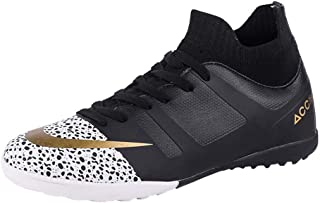 Football Shoes, Large Size Soccer Boots TF/AG Spiked Slip Wear Training Shoes Professional Indoor Outdoor Sneakers for Adu...
