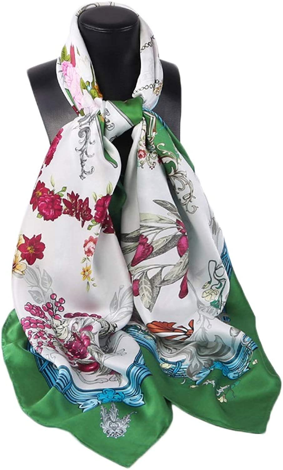 Shawl MultiFunction Square Scarf Square Towel Sunscreen Silk Scarf Cold Weather Scarves (color   Scarf, Size   135x135CM)
