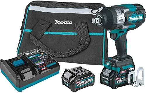 wholesale Makita GWT01D lowest online 40V Max XGT Brushless Lithium-Ion 3/4 in. Cordless 4-Speed High-Torque Impact Wrench with Friction Ring Anvil Kit (2.5 Ah) sale