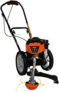.Powermate. 17 in. 43cc 2-Stroke Engine Walk Behind Wheeled Multi String Trimmer Mower with Heavy Duty 12