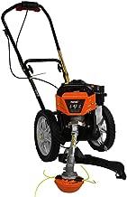 .Powermate. 17 in. 43cc 2-Stroke Engine Walk Behind Wheeled Multi String Trimmer Mower with Heavy Duty 12