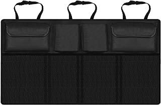 ONEVER Autositz Organizer, 2 in 1 Kofferraum  und Rücksitz Organizer, platzsparend, hohe Kapazität, Auto Rücksitz und Kofferraum Aufbewahrung, robustes Design mit 3 voll verstellbaren Gurten