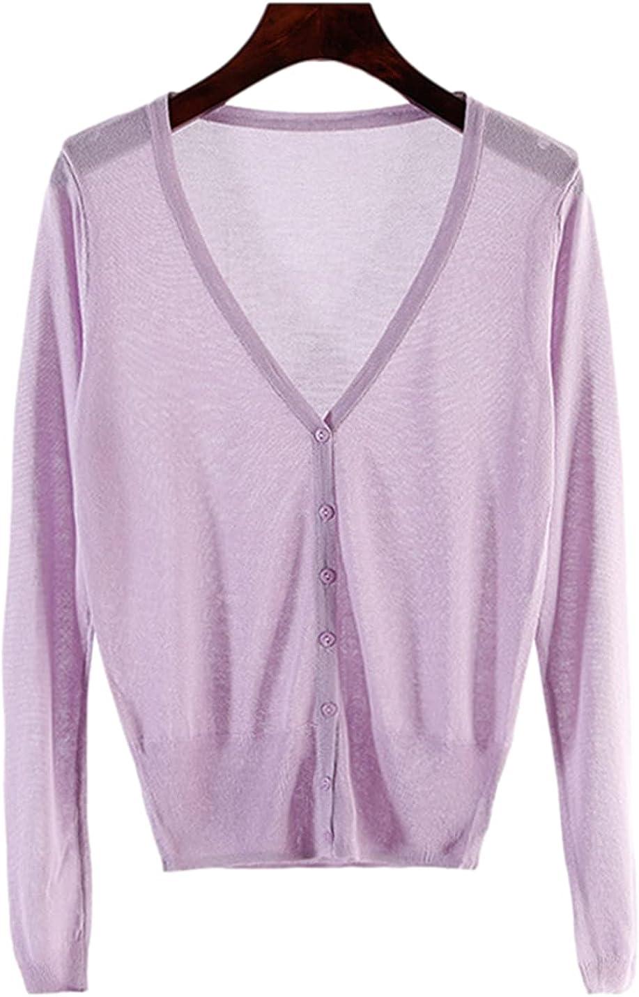 SeekMe Women's Long Sleeve Bolero Regular store Button Shrug Directly managed store Lightweight Down