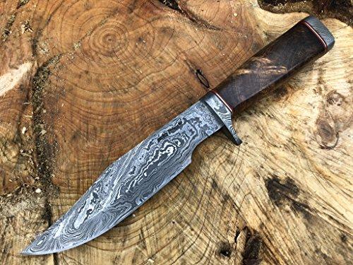 Perkin Knives jagdmesser mit Scheide Damastmesser jagdmesser damast - WHDS