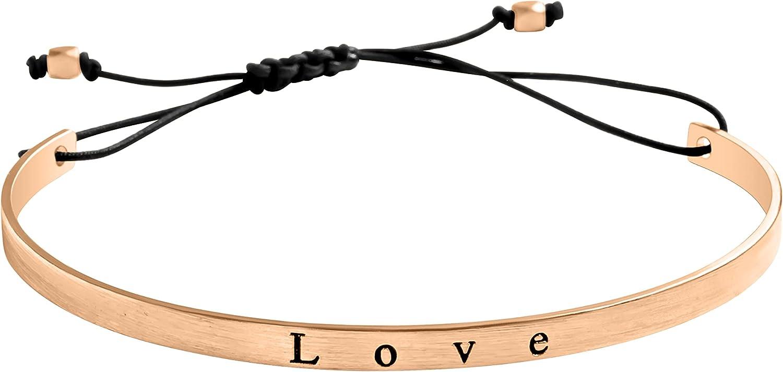 ONDAISY Minimalist Bohemian Boho Jewelry BFF Wedding Party Make A Wish Letter Letterling Brass Cuff Bangle Bracelet