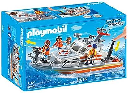 PLAYMOBIL Guardacostas - Barco de Rescate con Manguera, playset (5540)