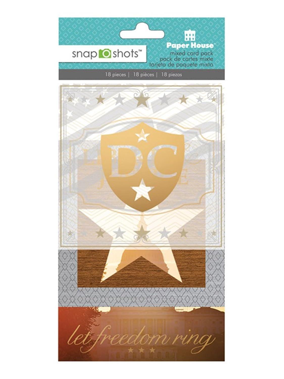 Paper House Productions DCC-0002E SnapShot Diecut Embellishment, Washington DC (3-Pack)