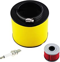 TRX350Air Filter & Oil Filter & Spark Plug for 1995-2004 Honda Foreman 400 450 TRX400 TRX450 2000-2006 Honda Rancher 350 TRX350 Replace OE # 17254-HN5-670