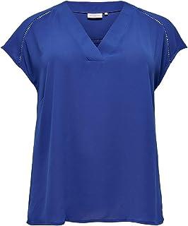 ONLY Carmakoma Cardesido SL V-Neck Top Camicia Donna