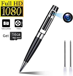 Spy Camera Pen Hidden Cameras Portable Video Recorder Mini DVR Meeting Pens Body Cam Built-in 16G Micro SD Card