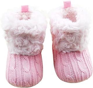 SHOBDW Girls Shoes, Baby Boys Cute Snow Soft Crib Knitting