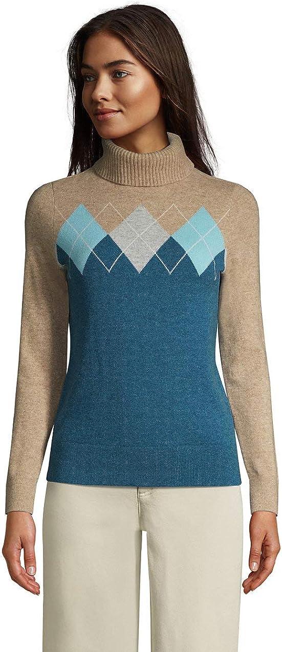 Lands' End Women's Turtleneck 返品不可 おすすめ特集 Sweater Cashmere