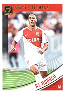 2018-19 Donruss #81 Youri Tielemans AS Monaco Soccer Trading Card