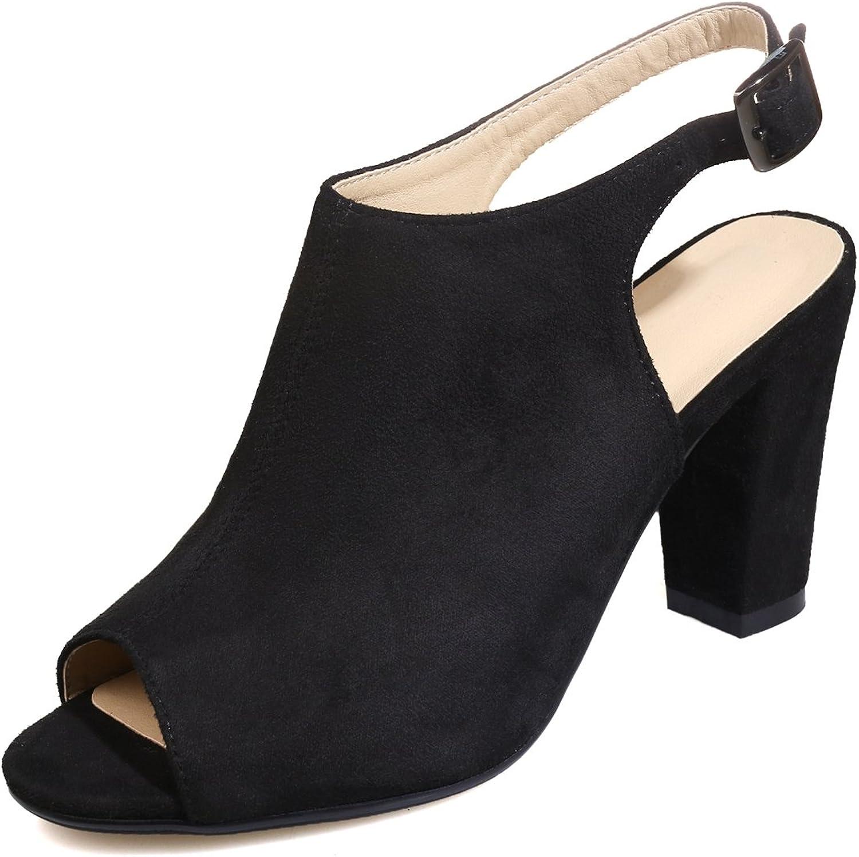 Vitalo Women's Mid Block Heel Peep Toe Open Back Sandals Ladies Back Strap Ankle Boots shoes