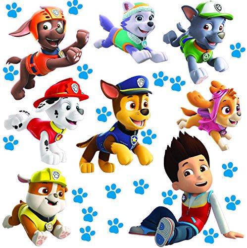 alles-meine.de GmbH große _ Wandsticker -  Paw Patrol - Hunde  - selbstklebend + wiederverwendbar + wasserfest - Aufkleber für Kinderzimmer - Wandtattoo / Sticker Kinder - Hund..