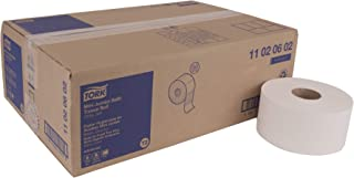 Tork Advanced 11020602 Soft Mini Jumbo Bath Tissue Roll, Perforated, 2-Ply, 7.36