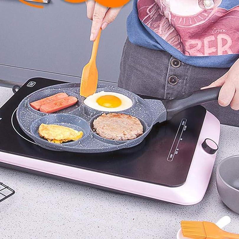 学んだ換気師匠リューシン オムレツパン焦げ付き防止の炊事道具の小型鍋4穴の朝食の小さいフライパン