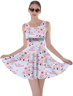 CowCow Womens Airplanes in The Night Sky Pattern Skater Dress