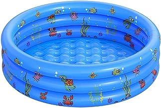 FANIER Piscina hinchable para niño, Redonda Piscina Inflable hinchable bañera hinchable para jardín, 3 Cámara de Aire Individuales, 130 cm de diámetro, 38 cm de altura