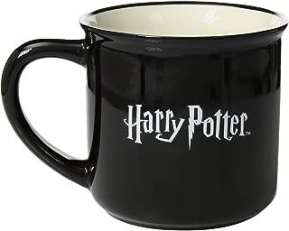 Enesco Words Magic Spell Harry Potter Black 16 Ounce Glossy Ceramic Camper Mug