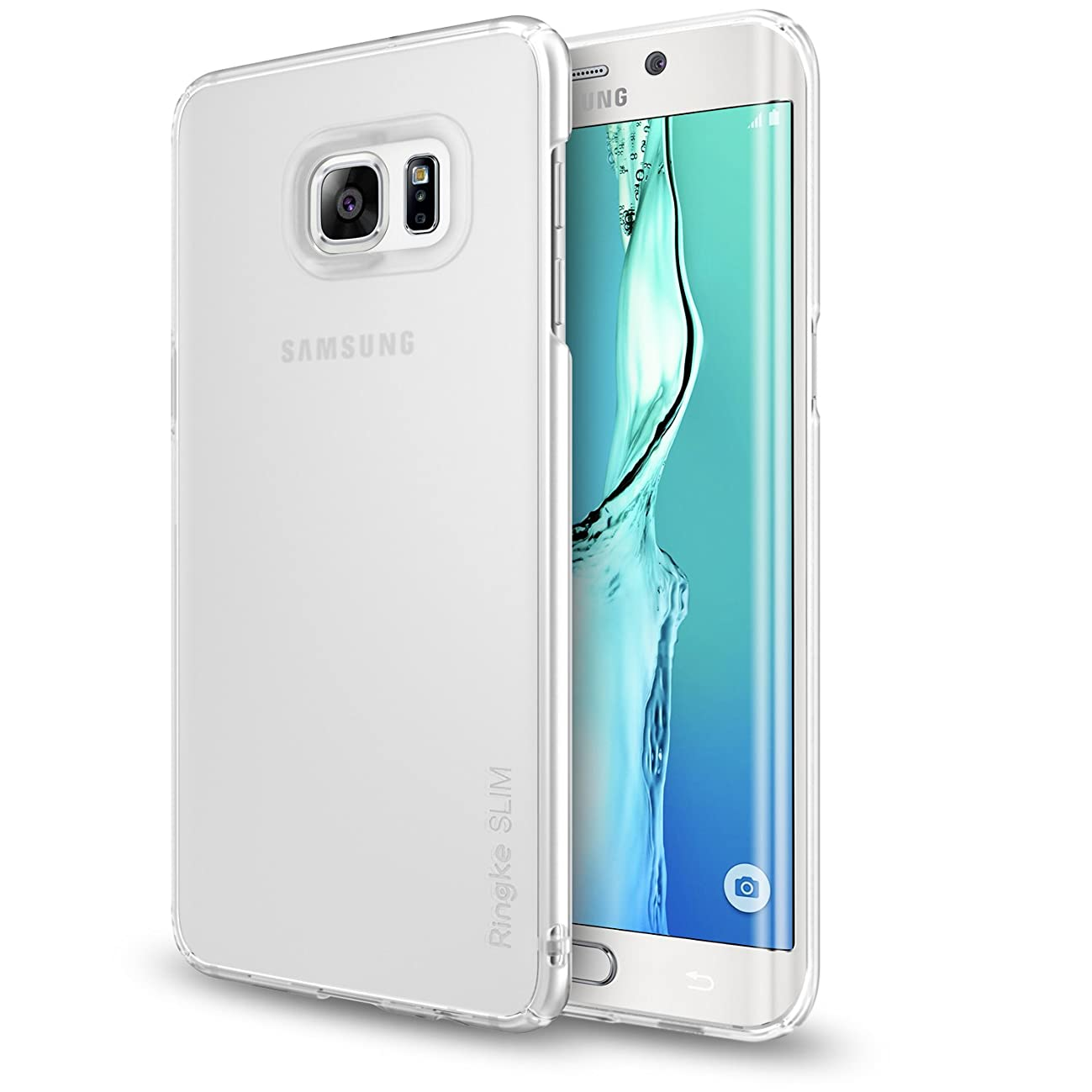 Galaxy S6 Edge Plus Case, Ringke [Slim] Lightweight & Thin Cover [Soft Tone Color] Perfect Slim Translucent Lightweight Hard Skin for Samsung Galaxy S6 Edge Plus - Frost White