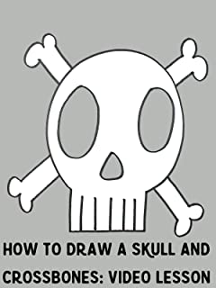 How to Draw a Skull and Crossbones: Video Lesson