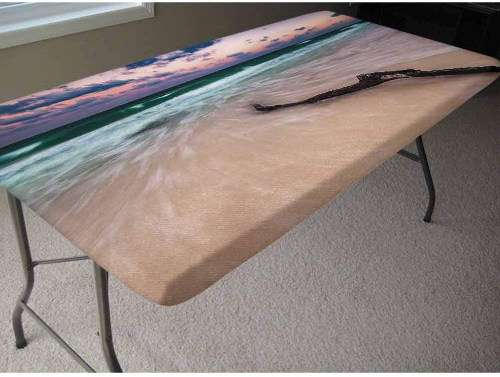 4ft Funny Elastic Edge Fitted Table Cover,Mug Shot of Hippie Wanted Dog Criminal Puppy Afro Boxer Gangster Prison Humor Theme Picnic Table Fitted Tablecloth Cover,for Outdoor Travel//Holiday//Party