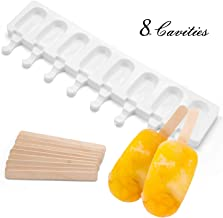 Ice Cream Maker Molds, FollowYT Mini Classic Shape Silicone Mold Popsicle Moulds for Ice Cream Pops with Popsicle Sticks