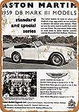 Forry Aston Martin Metall Poster Retro Blechschilder