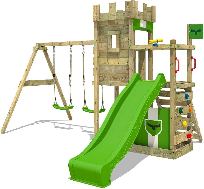 ahorra hasta un 30-50% de descuento FATMOOSE parque infantil BoldBaron Boost Boost Boost XXL de madera con columpio y tobogán  artículos novedosos