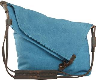 Youlee Segeltuch Schultertaschen Kuriertaschen Reisetaschen Einkaufstüten Blau