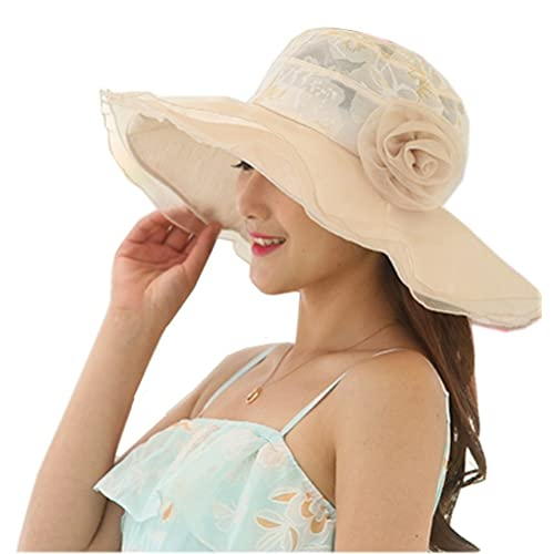 98794bc1d94 Nanxson TM Flower Garden Tea Party Holiday Fishing Beach Cap Summer Sun Hat  Wide Brim Women