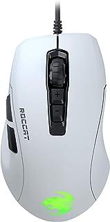ROCCAT Kone Pure Ultra 超軽量エルゴノミクス ゲーミングマウス (光学式 Owl-Eye 16K, RGB, サイドボタン, 超軽量 66.5g) ホワイト (国内正規品) ドイツデザイン&エンジニアリング ROC-11-731