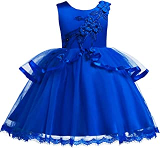 IBTOM CASTLE Baby Girl Flower Pageant Birthday Formal Dress Kids Tutu Baptism Wedding Party Dance Short Gowns