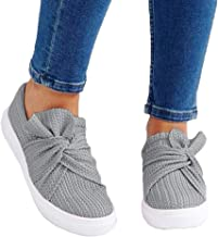 Loafers for Women Comfort On Sale Clearance,melupa Ladies Solid Fashion Bowknot Casual Loafers Roman Cloth Shoes