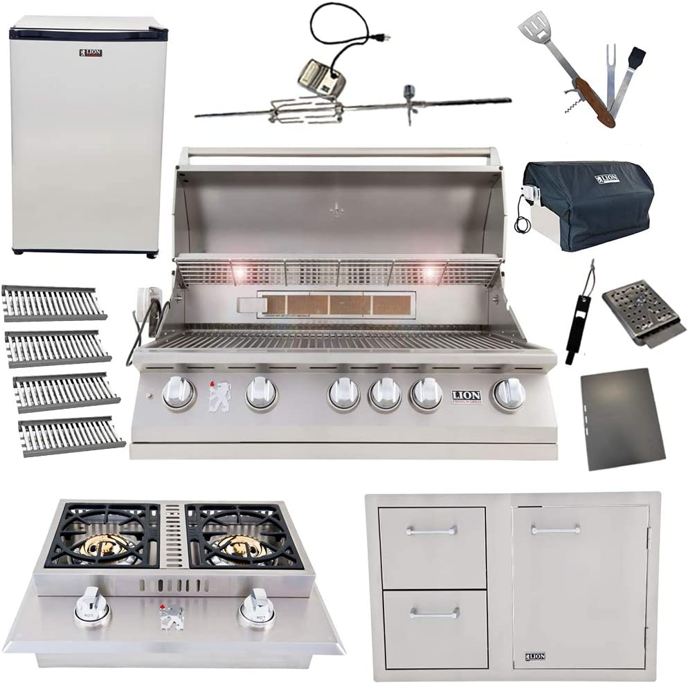 Lion 40-Inch Natural Gas Grill L90000 Discount mail order Fl 4 Tubes with Excellent Ceramic w