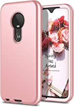 WeLoveCase Moto G7 / G7 Plus Case, 3 in 1 Shockproof Hybrid Rugged Armor Three Layer Hard PC Cover with Soft TPU Bumper Full Body Heavy Duty Protection Case for Motorola Moto G7/G7 Plus Rose Gold